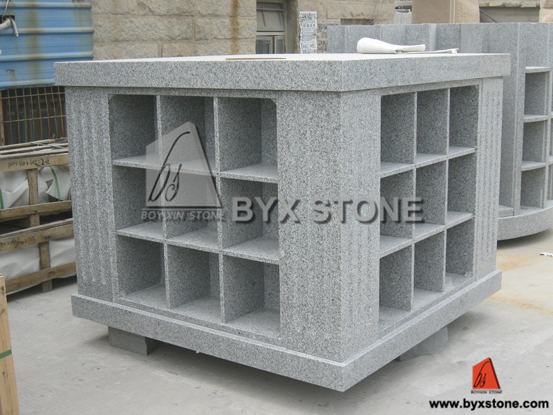 36 Niches Granite Columbarium for Cemetery with Square Shape