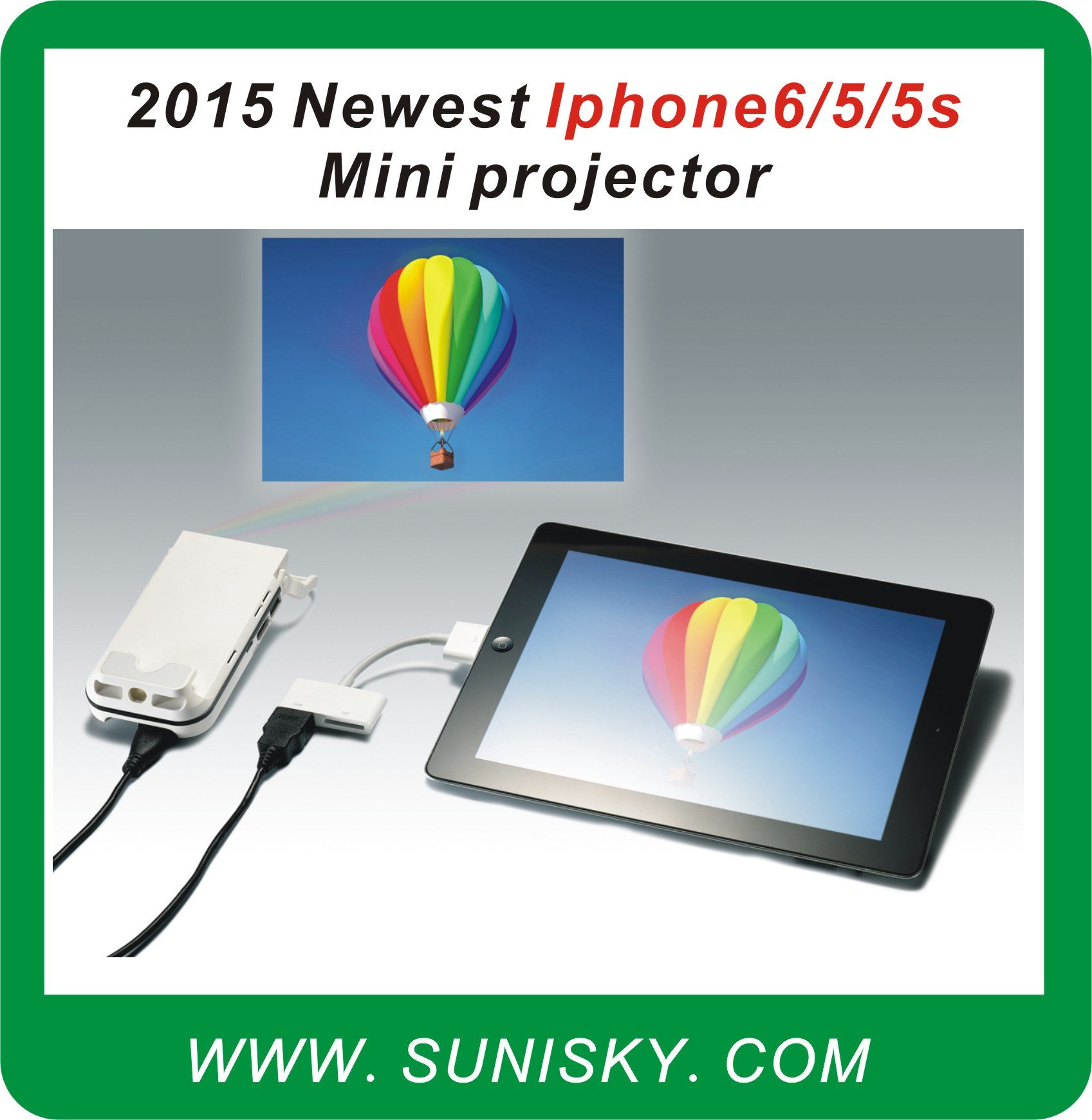Smpi6 Newest for 6 / 5 / 5 S Mini Pocket Projector