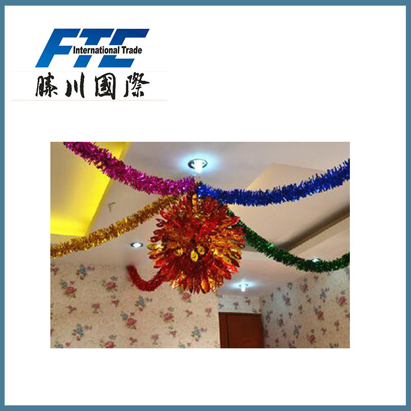 PVC Tinsel for Christmas Party or Wedding Decoration