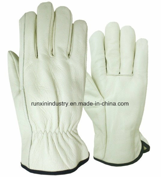 Natural Color Cow Leather Driver Gloves