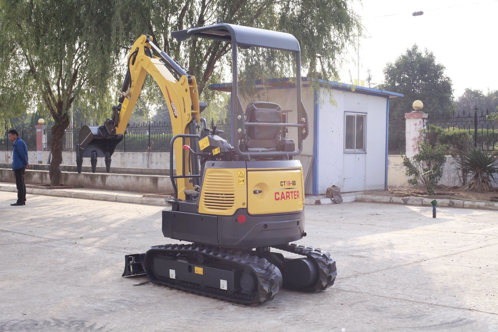 CT16-9b with Retractable Chassis&Rubber Tracks&Swing Boom Mini Excavator