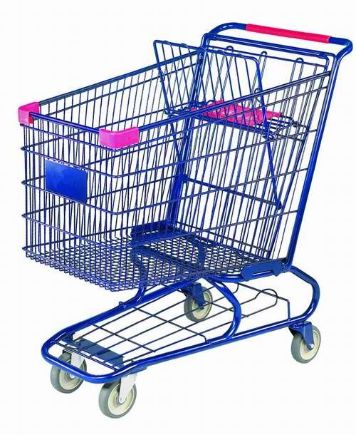 Shopping Trolley Manufacture Metal and Zinc/Galvanized/ Chrome Surface 9251