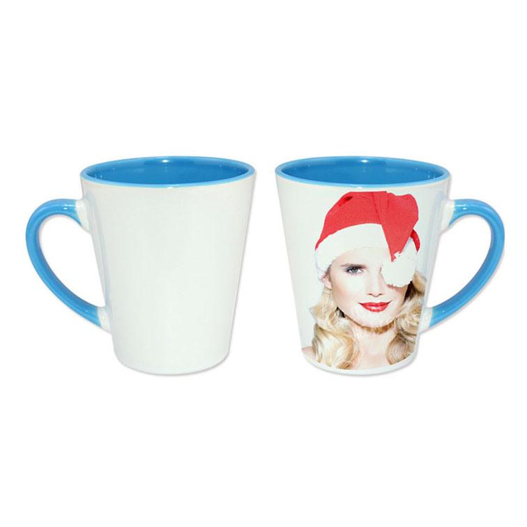 Sky Blue Inner &Rim Color Latte Mug for Sublimation
