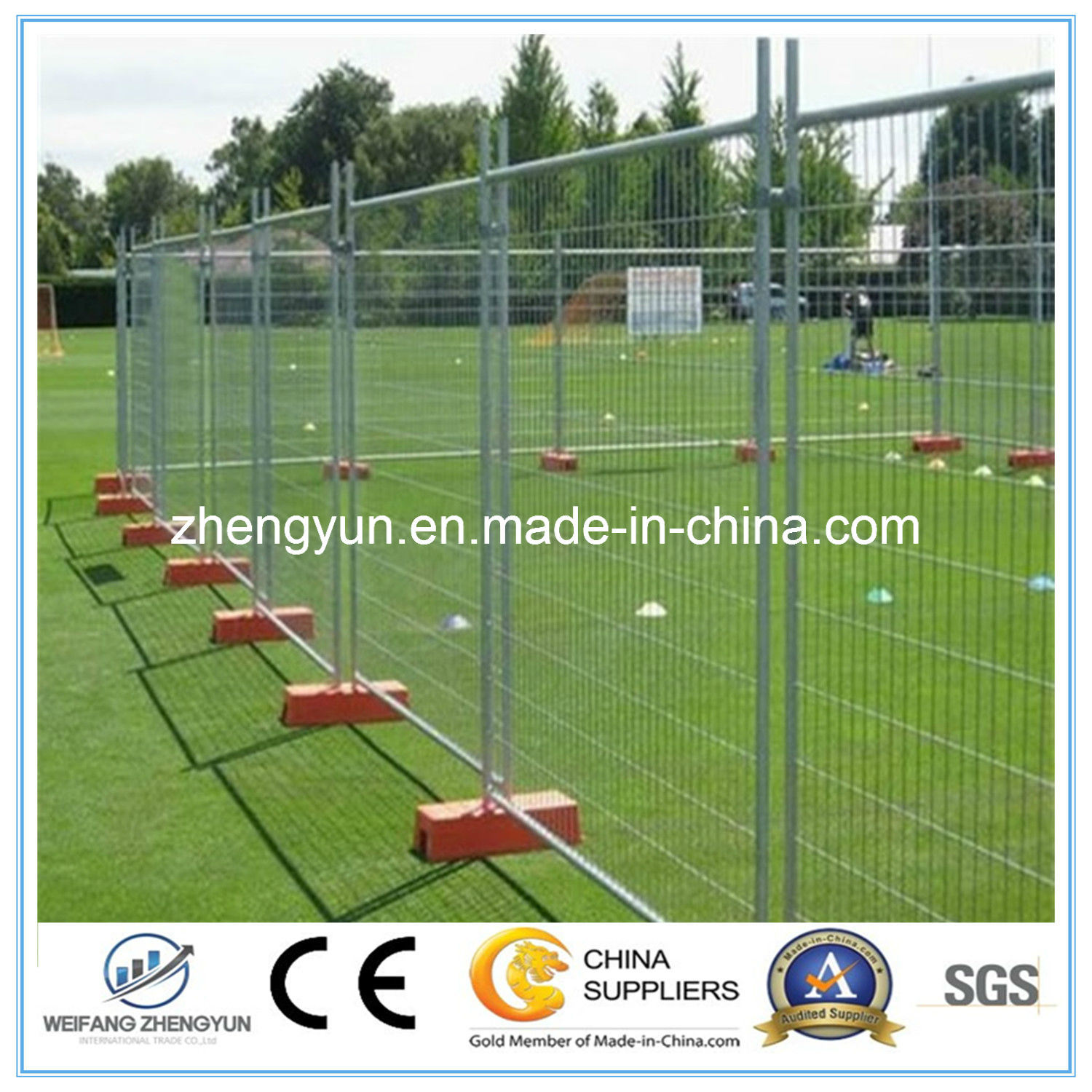 Construction Safety Fence, Temporary Fence, Mesh Panel, Fence Panel