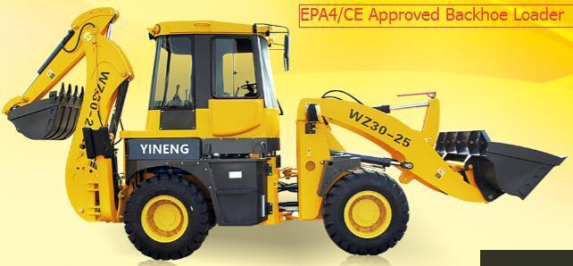 EPA Approved Backhoe Loader Wz30-25 Yineng