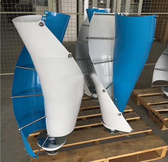 Powerful Vertical Small Weight Wind Turbine for Marine Boat