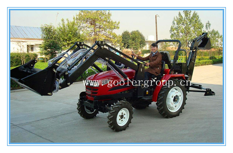 China Small Garden Tractor Fit With 4in1 Front End Loader Backhoe Etc Lz284 Tz03d Lw 6