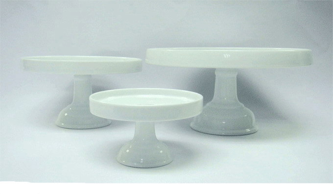 Ceramic Cake Stand Pedestal Footed Cake Stand With