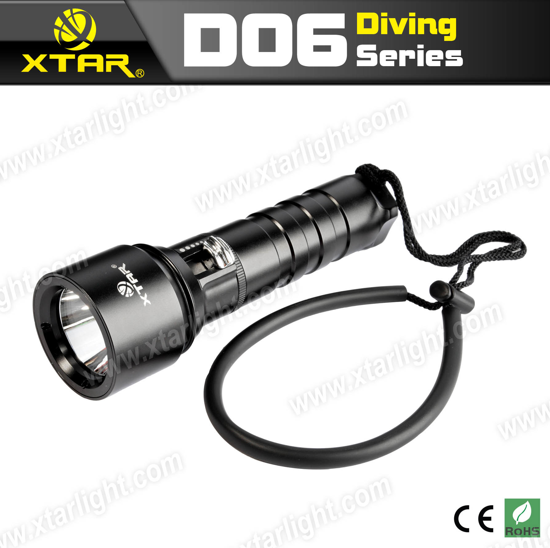 XTAR super bright 800lumens Scuba Dive Light D06 U2