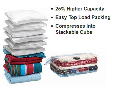 Customer Designed Space Saving Vacuum Bag for Bedding, Travelling