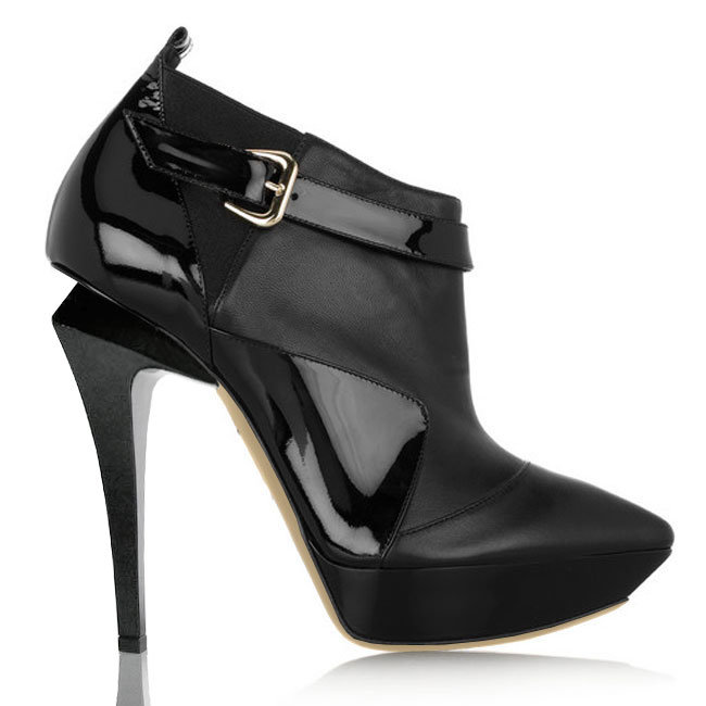 Ankle Boot, Hottest Black Dress Shoes, Prom Shoes LTYK0008