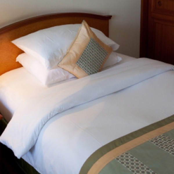 Hotel Linen 100%Cotton White Bedsheets (DPF9029)
