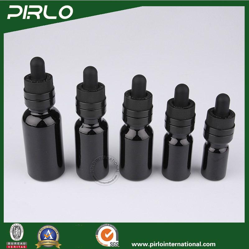 5ml 10ml 15ml 20ml 30ml 50ml 100ml Black Glass Dropper Bottle Child Resistant Dropper