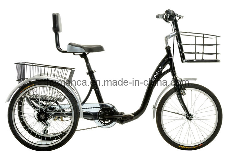 China Monca Best Electric Tricycle E Bike Bicycle Three Wheels Old Men Travel Vehicle Shimano Gear