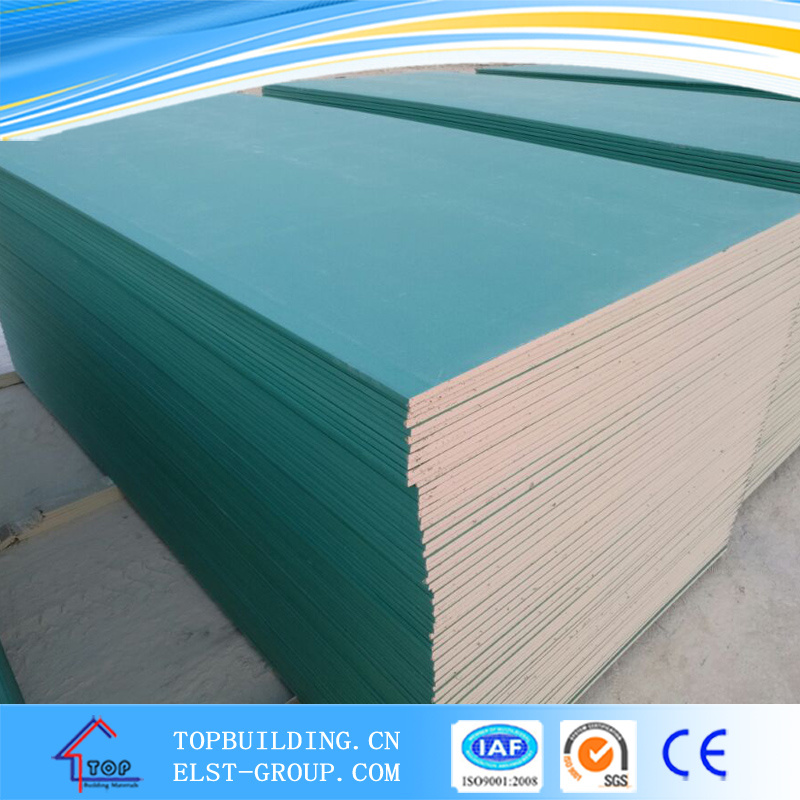Gypsum Ceiling Board/Moisture Proof Gypsum Board/Plasterboard/Gypsum Board 1220X2440X12mm