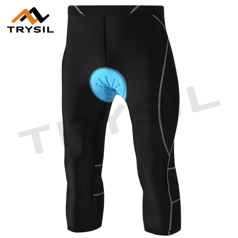 Men Cycling Pants Capri Legging Quick Dry Cycling Clothing