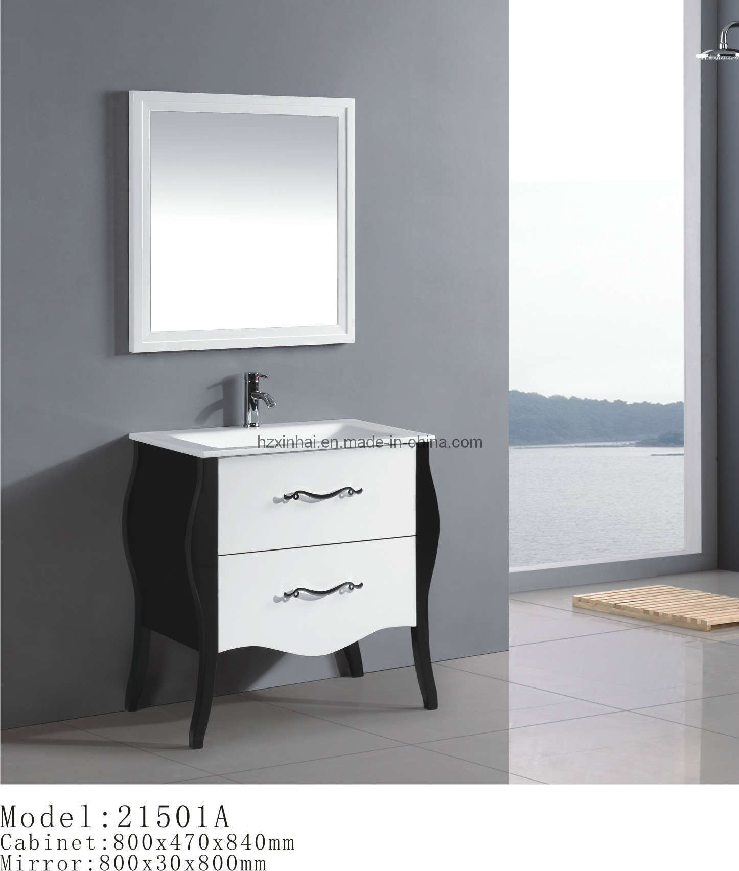 china solid wood bathroom cabinet 21501a china