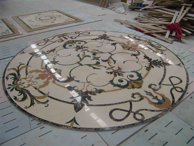 China Water Jet Marble Pattern Inlay KR