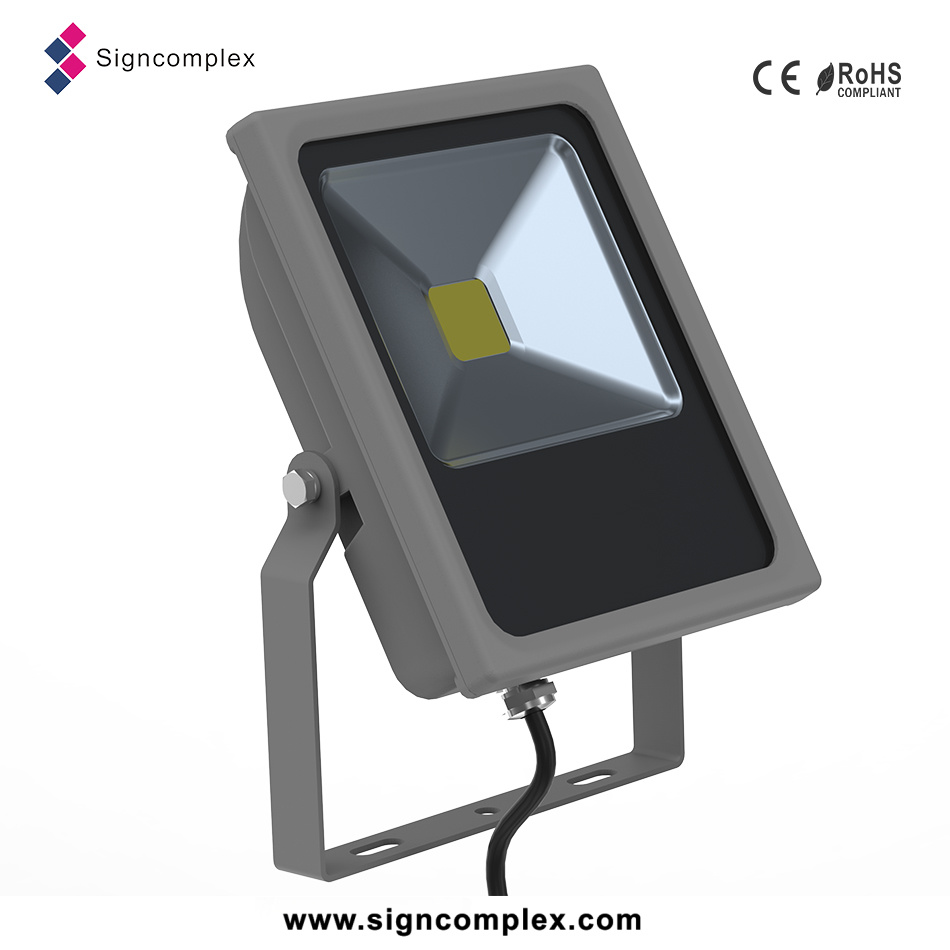 Waterproof IP65 COB 50 W Flood Light DC 12V-24V Slim LED Projector Lamp