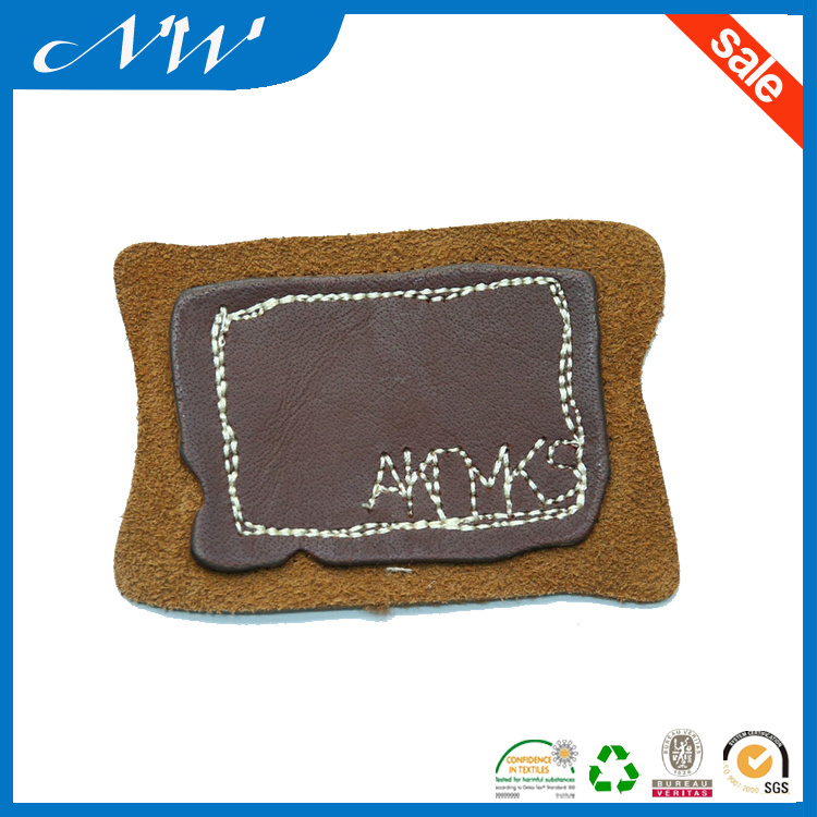 Custom Jeans Jacket Leather Applique Patch Man-Made Leather Patches