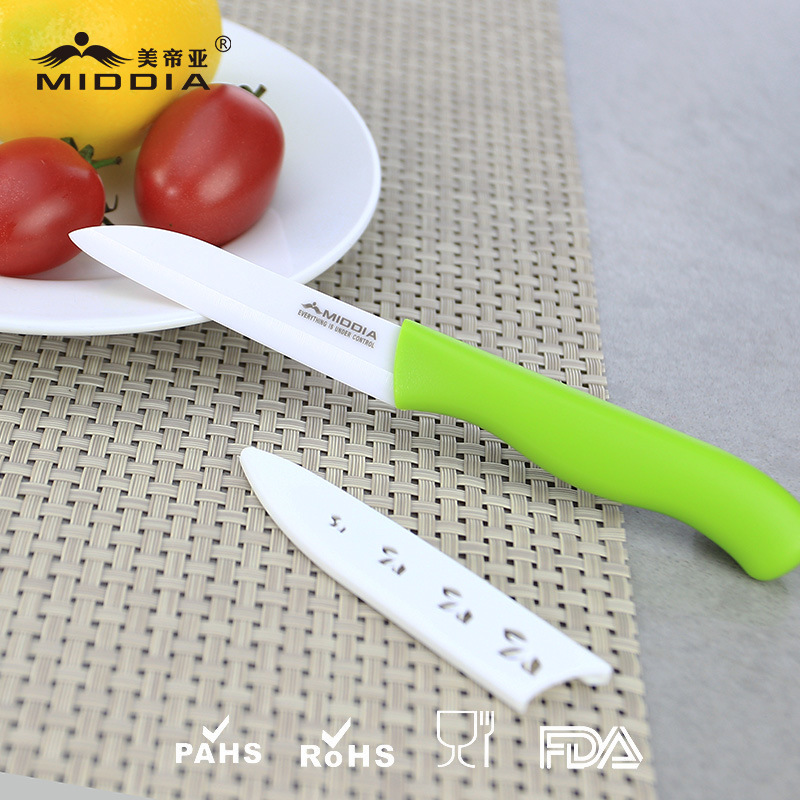 FDA Top Quality 3 Inch Ceramic Fruit Paring Knife with Sheath