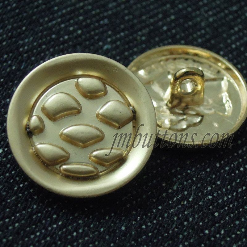 Gold Types Metal Sewing Shank Military Button for Coat Uniforms