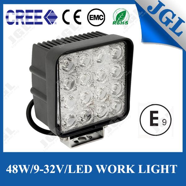 Jgl Manufactured PC Lens 48W LED Driving Light Truck Trailer