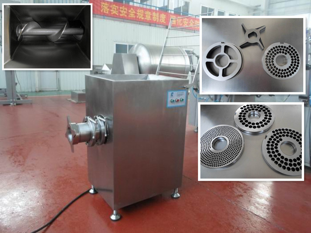 Frozen Meat Mincer for Sausage 600kg/H