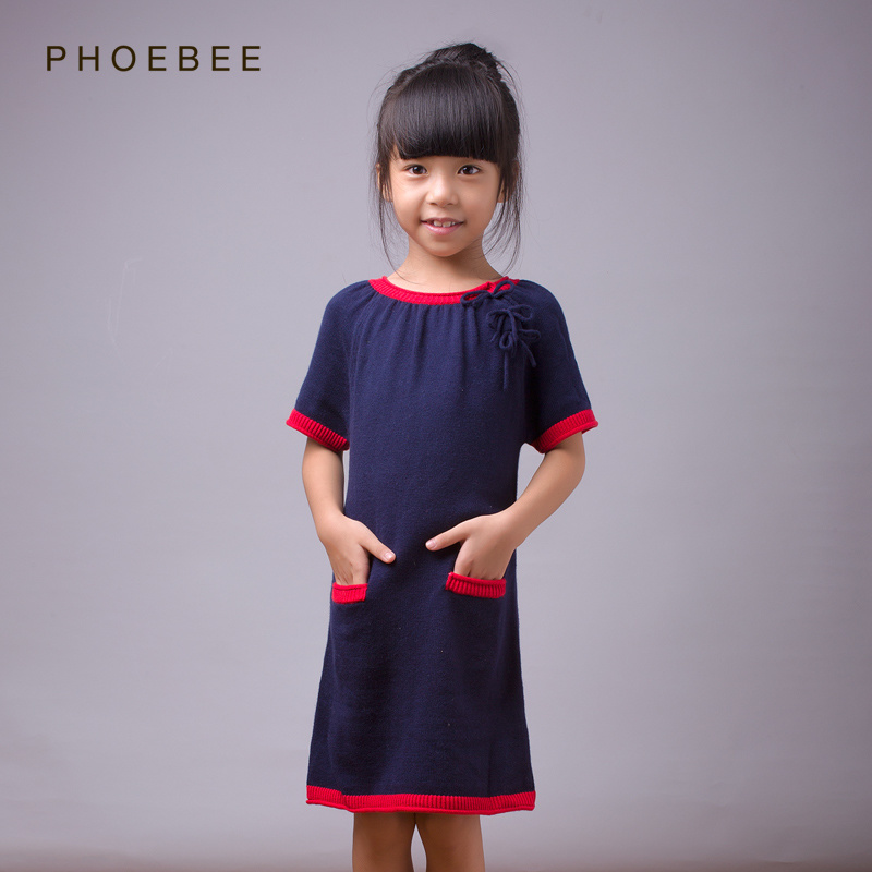 Phoebee Wholesale Children Dress Girls Knitwear