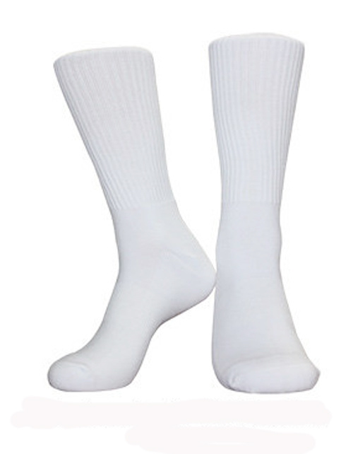 Sport 100% White Blank Sublimation Polyester Men Socks