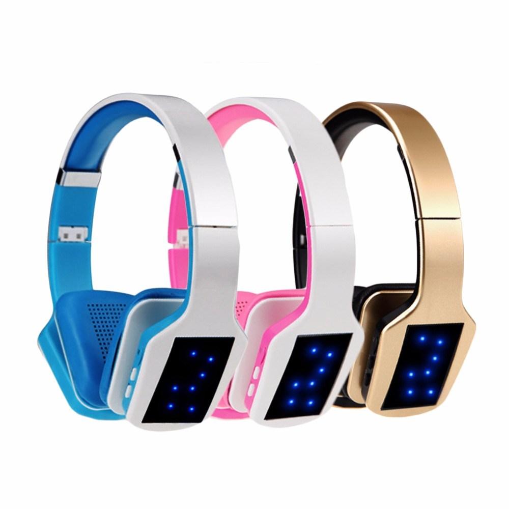 Wireless Head-Mounted Computer Phone Bluetooth Wireless TF Card FM Headset MP3 Headphones