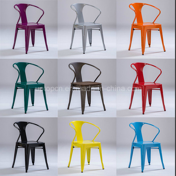 Colored Xavier Pauchard Metal Tolix Arm Chair (sp-mc039)