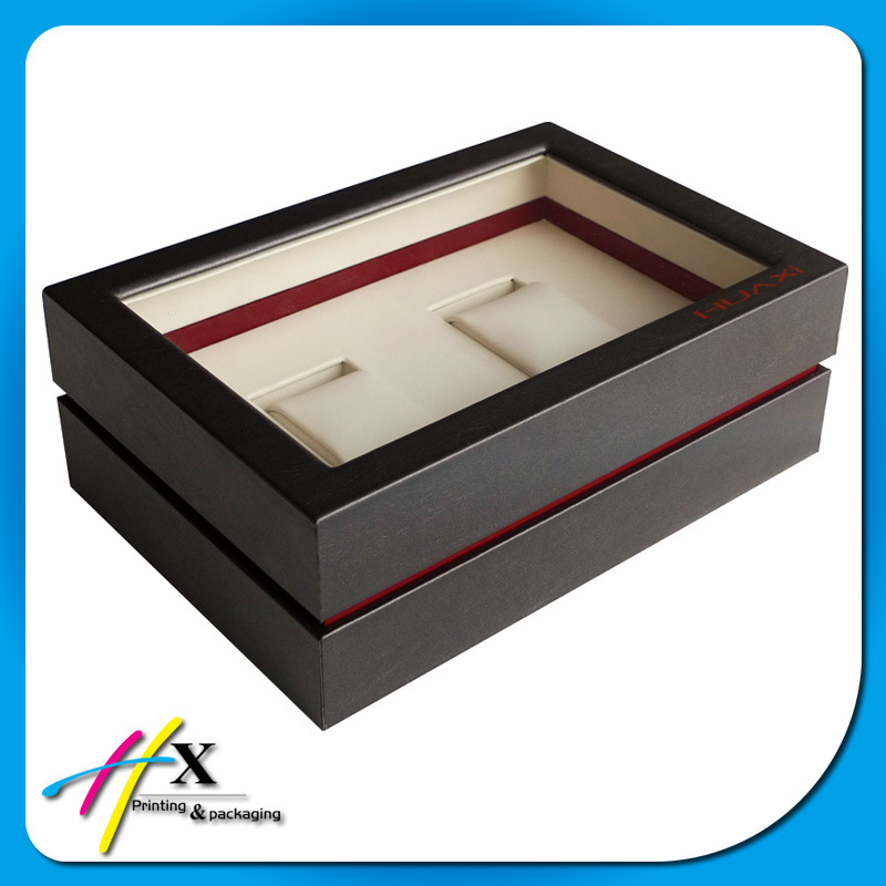 Couple Watches Packaging Box/Black Wooden Hinged Box for Watches