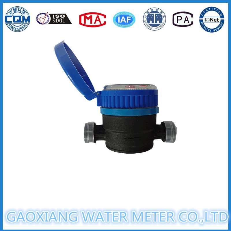 Plastic Nylon Single Jet Water Flow Meter Dn15-Dn20