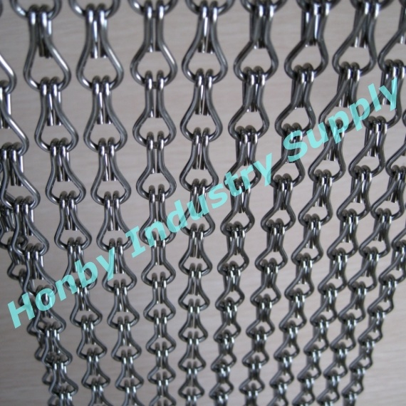 12mm Aluminum Double Hook Chain for Garment and Curtain (P160308D)