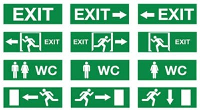 Exit Sign, Emergency Light, LED Emergency Exit Sign, Exit Light, LED Exit Sign