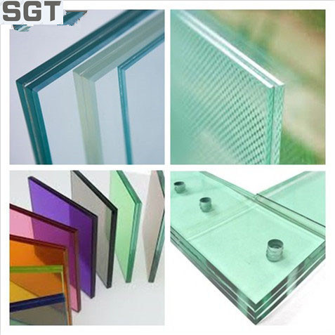 4.38mm-38.38mm Clear/ Colored/ PVB/ EVA Laminated Glass with Ce, Csi, SGS