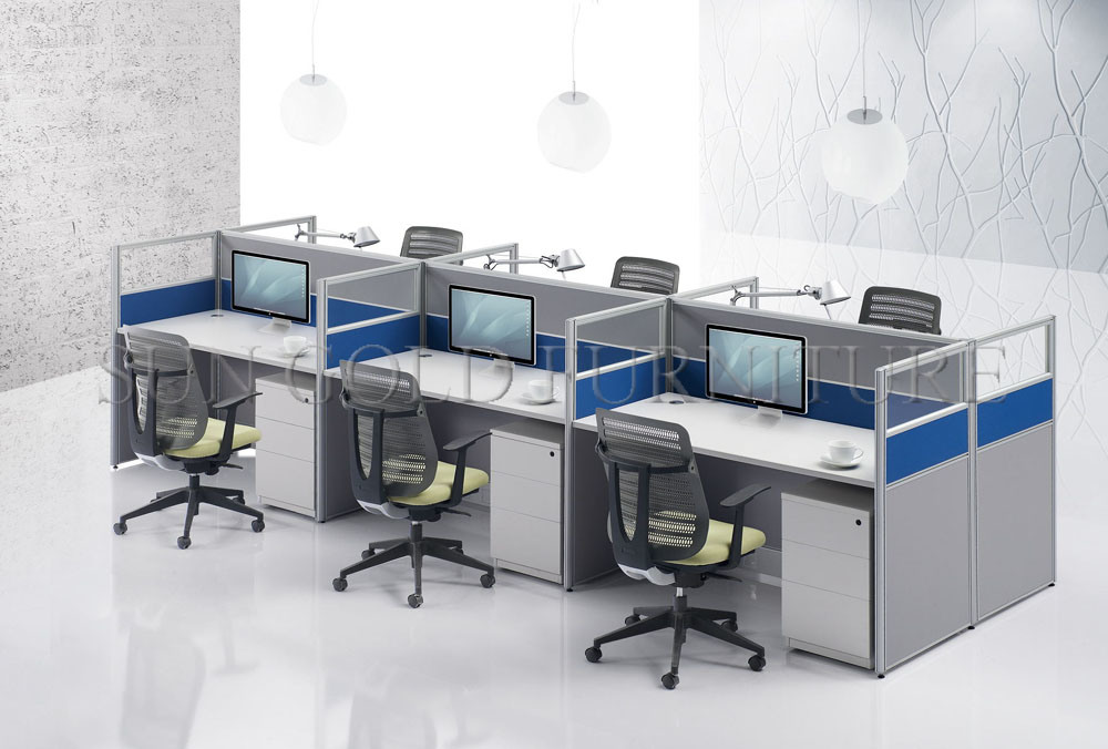 China Small Call Center Modern Office Workstation Cubicle for 6 ...