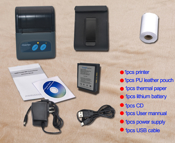 "2"" Portable Mobile Bluetooth Receipt Thermal Printer/POS Printer/Barcode Printer (SGT-B58V)"