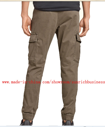 Men′s Cotton Twill (chinos) Cargo Jogger Washing Pants (p15001)