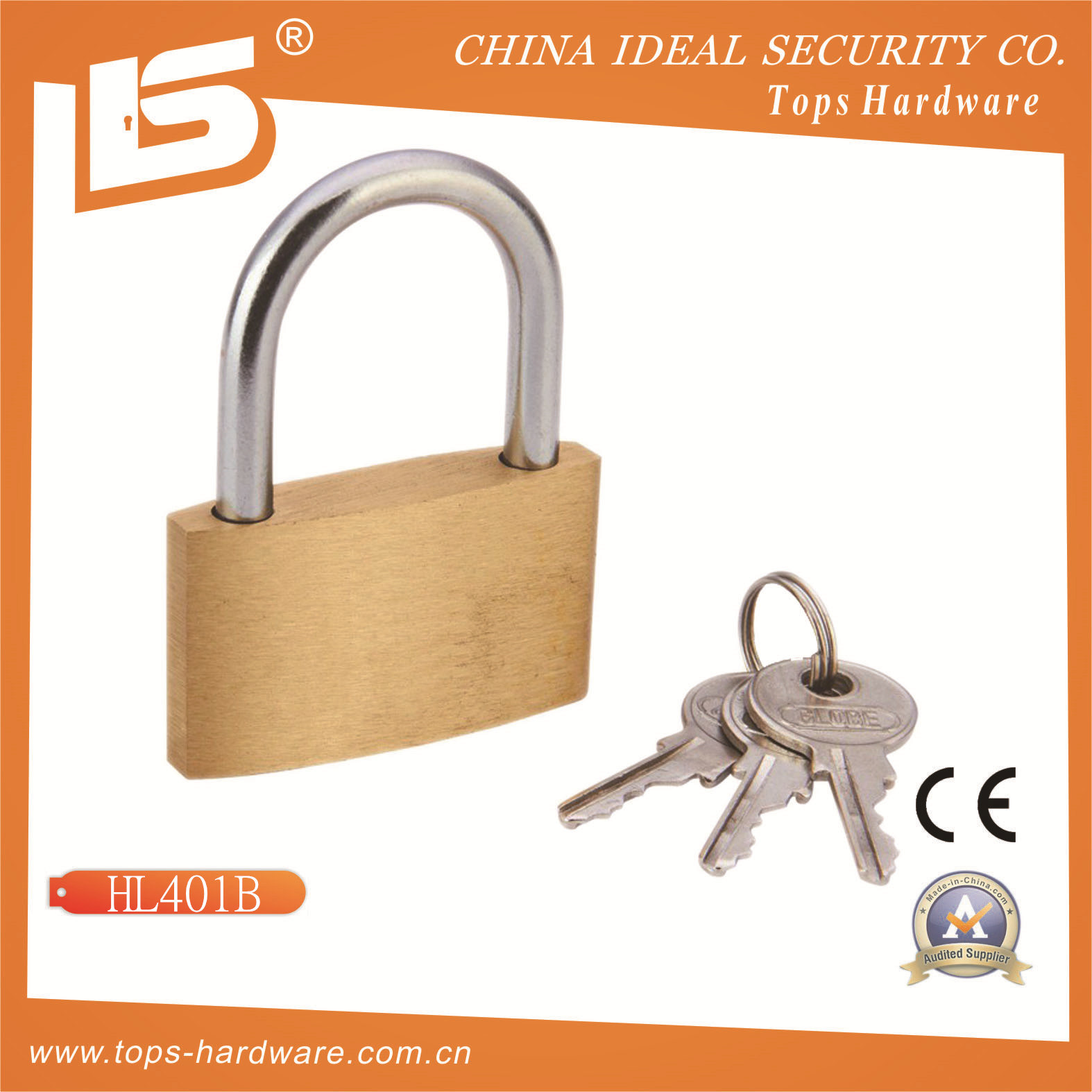 High Quality Globe Brass Padlock (HL40)