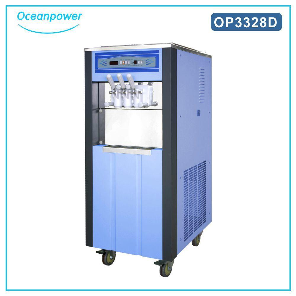 Floor Model Health Food Ice Cream Machine Soft Serve Freezer Op3328d