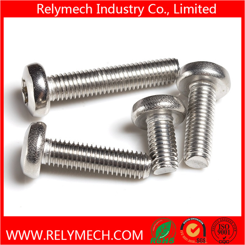 Plum Flower Head Pan Head Machine Screw in Stainless Steel 304