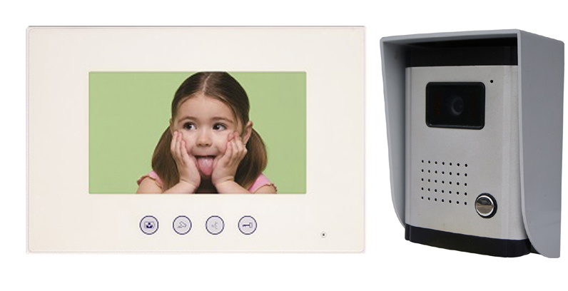 7inch Hands Free 4 Wires or 2 Wires Color Video Door Phone