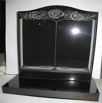 Polished Absolute Black Hebei Black Stone Carving Black Granite Monument