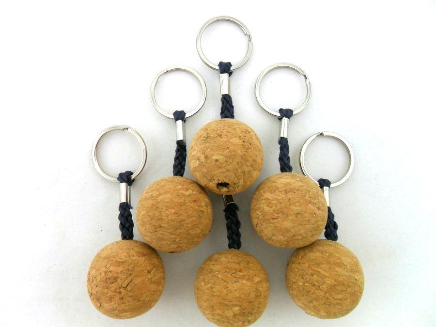 Custom Cork Ball Key Chain