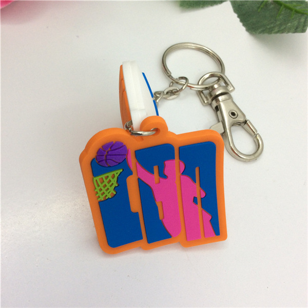 High Quality Multicolor 3D PVC Custom Silicone Keychain
