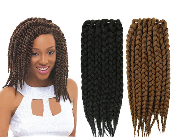 Crochet Braids Pack : Twist Crochet Braids Hair 12?? 75g/Pack Synthetic Crochet Braids ...