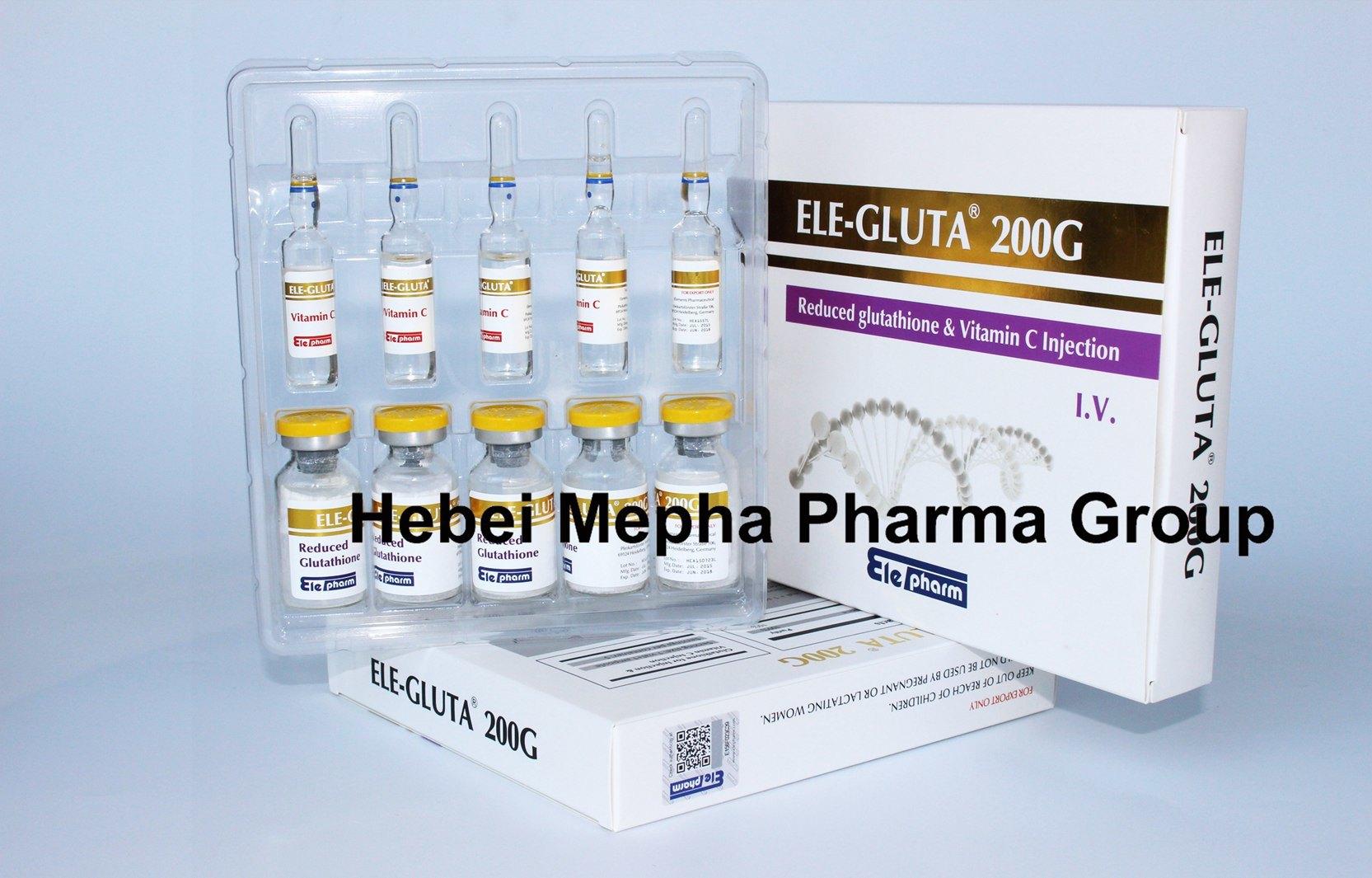 Good Whitening Result of 5g, 10g, 30g, 50g, 100g, 200g IV Injectable Glutathione&Glutathione