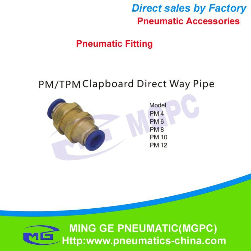 Direct Way Pneumatic Pipe Fitting for Fast Connector (PM4, PM6, PM8, PM10, PM12)